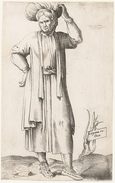 Costume Plate: Hispania Rustica (with laundry on head)