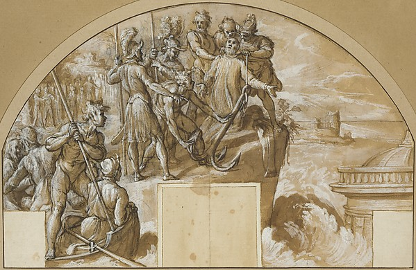 Fascinating Historical Picture of Agostino Ciampelli with The Martyrdom of Saint Clement I Pope in 1596
