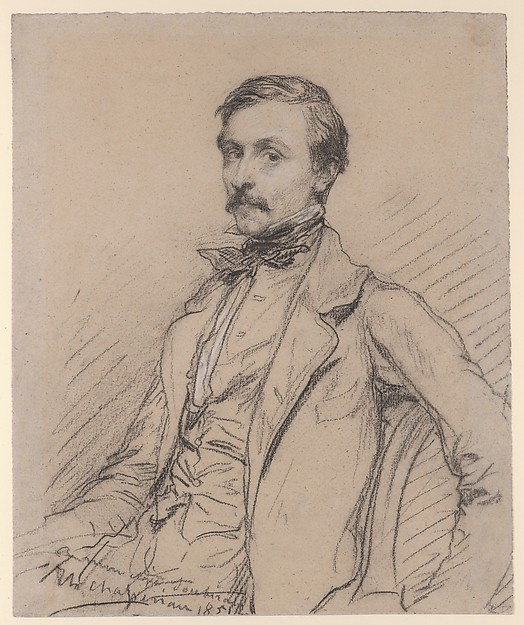 Portrait of a Seated Man, three-quarter view