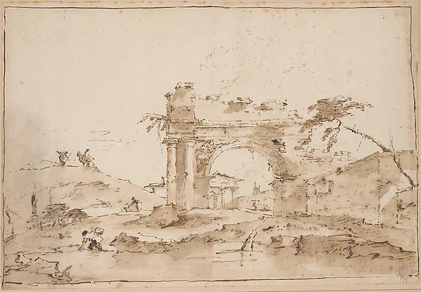 Capriccio with Roman Ruins.