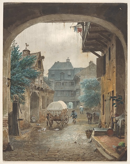 View into the Courtyard of an Inn at Colmar