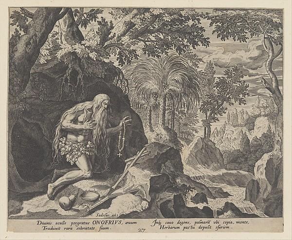 Onofrius, from the series Solitudo Sive Vitae Patrum Eremicolarum