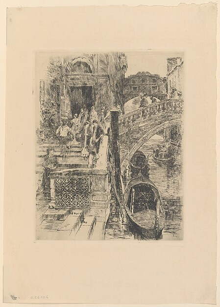 Bridge of Sighs, Venice (First Plate)