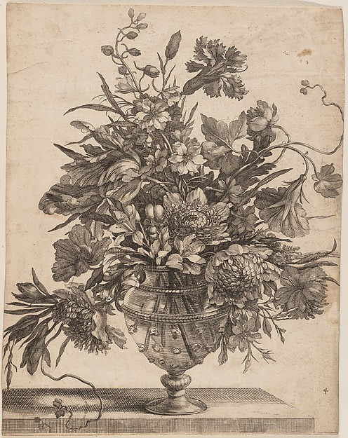 [Flowers Arranged in a Glass Vase]
