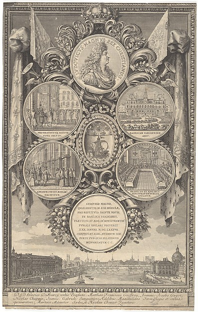 The Reception of Louis XIV at the Hôtel de Ville on the Occasion of his Recovery, January 30, 1687