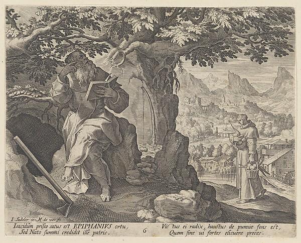 Epiphanius, from the series Sylvae Sacrae Monumenta...Anachoretarum