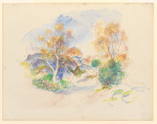 Landscape with a Path between Trees