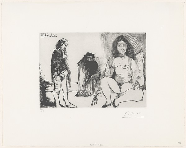 Pensive Man and a Young Woman with Célestine, from 347 Suite