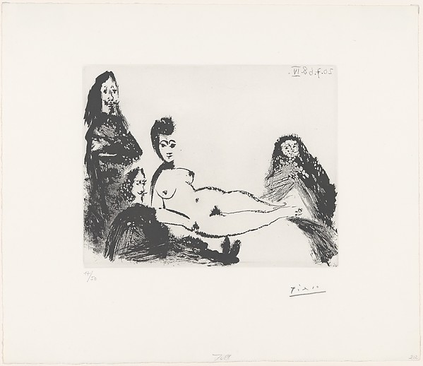 Jacqueline as Nude Maja, with Célestine and Two Musketeers, from 347 Suite