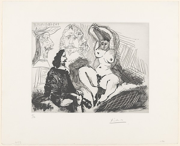 Seated Man near a Woman Combing Her Hair, from 347 Suite