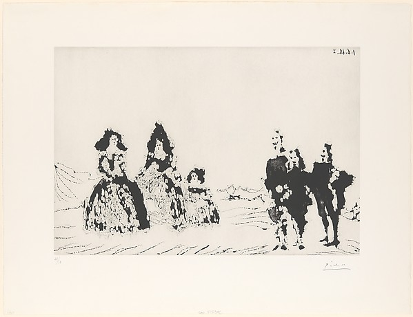 Las Meninas and Gentlemen in the Sierra, from 347 Suite
