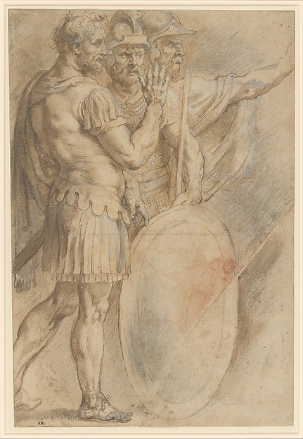 Three Warriors after Raphael