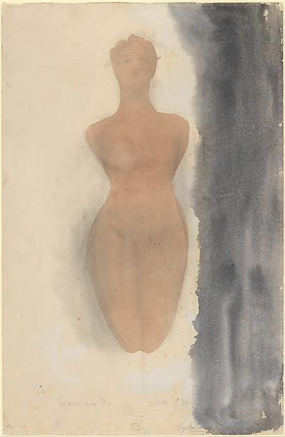 This is What Auguste Rodin and Origin of the Greek Vase (Study from a Kneeling Female Figure) Looked Like  in 1900
