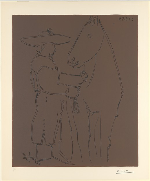 Standing Picador with his Horse