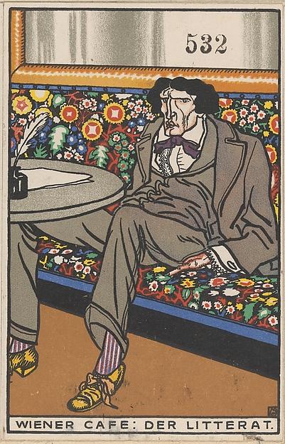 Viennese Café: The Man of Letters (Wiener Café: Der Litterat)
