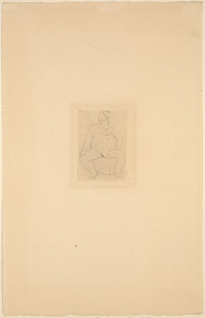 Seated Saltimbanque