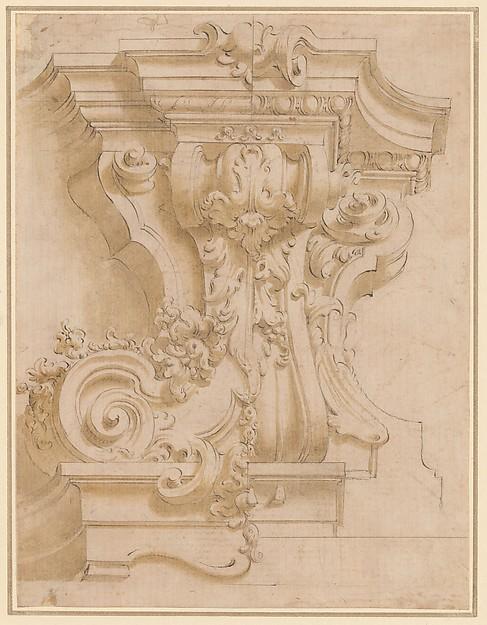 Design for a plasterwork bracket