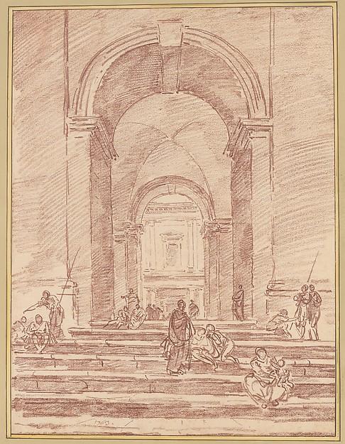 Figures in a Roman Arcade