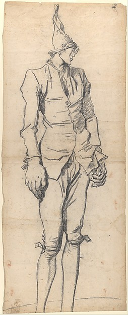 Fascinating Historical Picture of Franois Andr Vincent with Caricature of the Painter Pierre-Charles Jombert in 1773