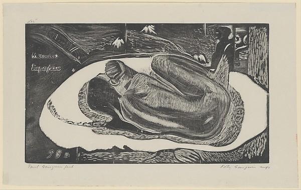 Spirit of the Dead Watching (Manao Tupapau), from Fragrance (Noa Noa)