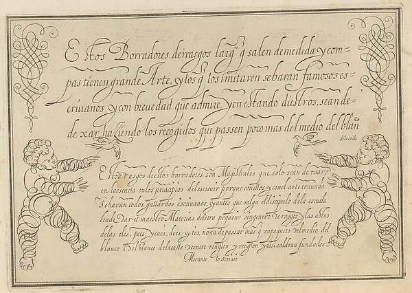 This is What  and Nueva Arte a Escrivir Looked Like  in 1615