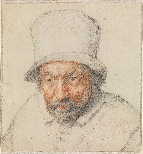 Head of a Bearded Man in a Hat