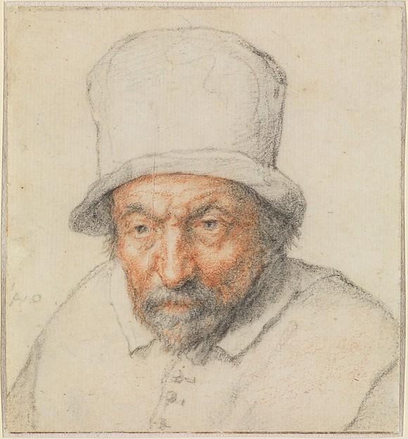 Head of a Bearded Man in a Hat