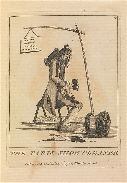 Fascinating Historical Picture of Sir Henry William Bunbury with The Paris Shoe Cleaner on 7/1/1771