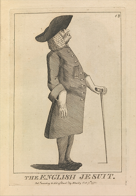 This is What  and The English Jesuit Looked Like  on 10/7/1771