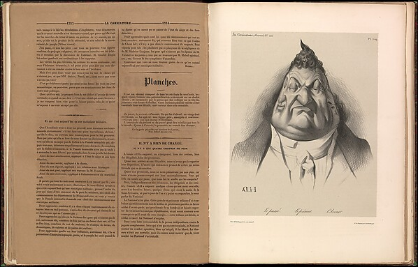 Fascinating Historical Picture of Honor Daumier with The Past. The Present. The Future (Le pass. Le prsent. Lavenir) from La Caricature plate on 1/9/1834