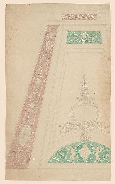 Fascinating Historical Picture of Sir William Chambers with Design for a Ceiling in 1743