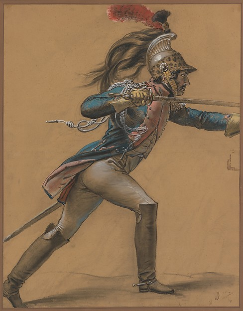 "A French Dragoon, Study for ""The Revolt of Cairo"""