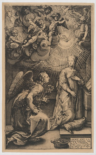 The Annunciation, from The Life of the Virgin (copy)