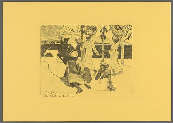 The Grasshoppers and the Ants: A Souvenir of Martinique, from the Volpini Suite:  Dessins lithographiques
