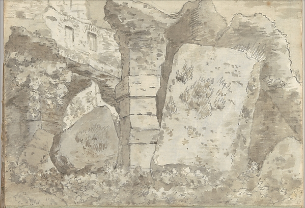 Roman Ruins (Smaller Italian Sketchbook, leaf 10 recto)