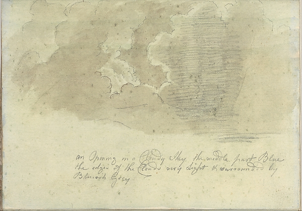 An Opening in a Cloudy Sky (Smaller Italian Sketchbook, leaf 13 recto)