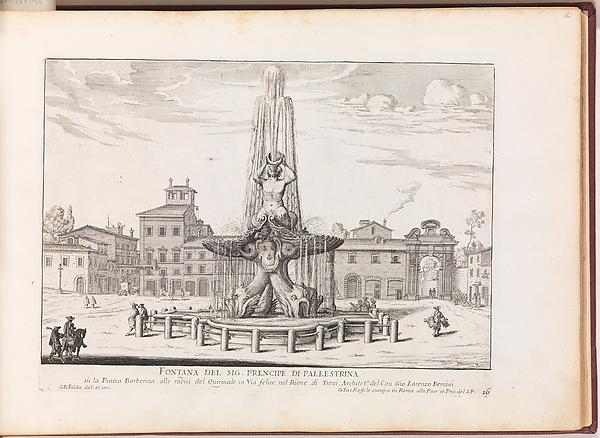 Fontana del Sig. Prencipe di Pallestrina (...). From 'La Fontane di Roma nelle Piazze e Luoghi Publici (...)'.