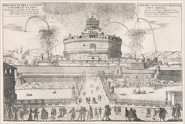 The Girandola at the Castel Sant'Angelo, Rome, 1692