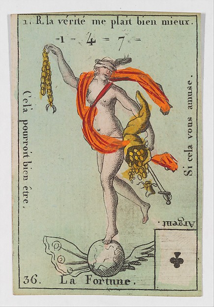 La Fortune from Playing Cards (for Quartets) 'Costumes des Peuples Étrangers'
