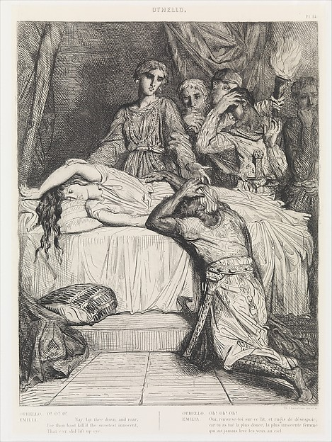 Othello (Act V, Scene II), plate 14 from the suite of fifteen illustrations