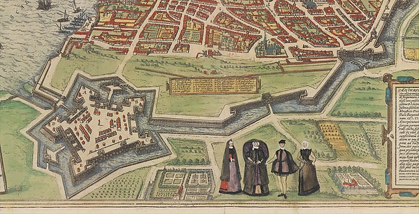 View of Antwerp from Braun and Hogenberg's Civitates Orbis Terrarum