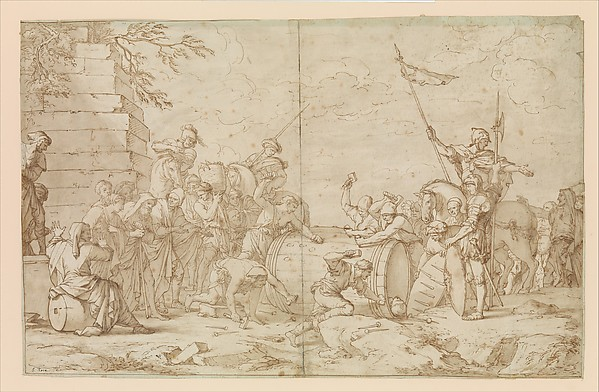 Fascinating Historical Picture of Salvator Rosa with Death of Regulus in 1615