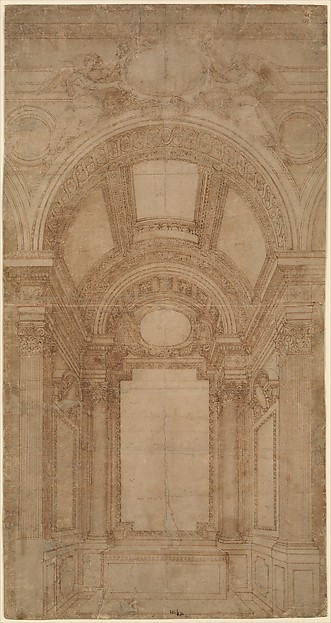 Design for an Elaborate Barrel-Vaulted Chapel.