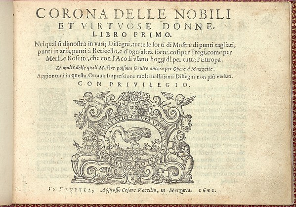 Corona delle Nobili et Virtuose Donne: Libro I-IV