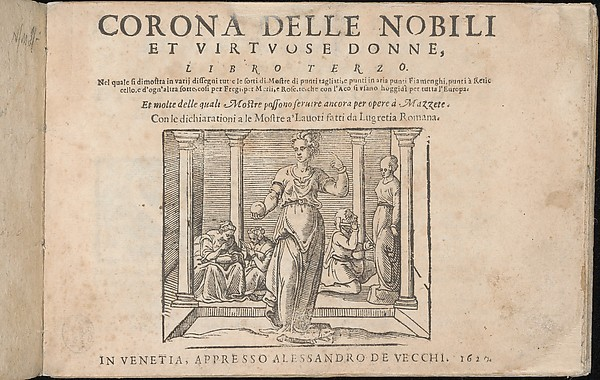 Fascinating Historical Picture of  with Corona delle Nobile et Virtuose Donne Libro Terzo in 1620