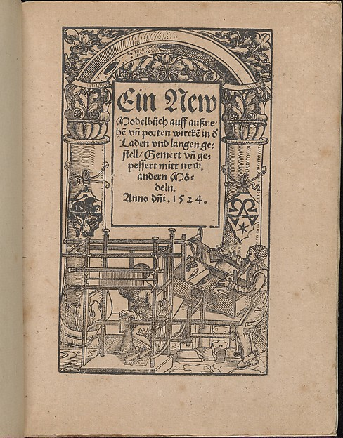 Fascinating Historical Picture of  with Ein new Modelbuch... on 10/22/1524