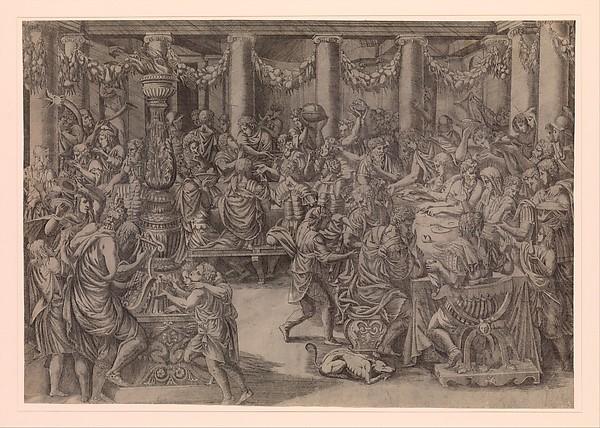 Fascinating Historical Picture of Antonio Fantuzzi with Banquet of Scipio in 1543