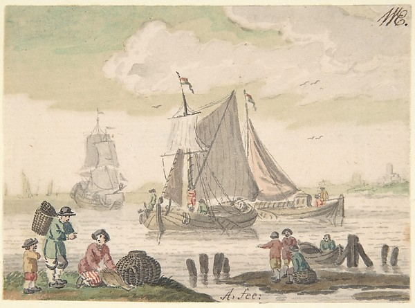Seascape with Six Figures in the Foreground