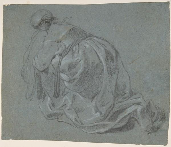 Weeping Woman Kneeling, Seen from Behind