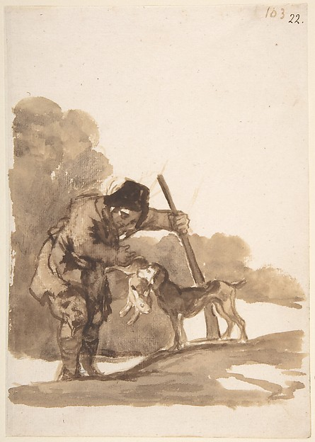 Rabbit Hunter with a Retriever, from Images of Spain Album (F), 103
